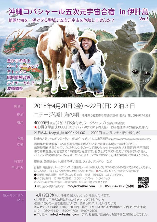 沖縄合宿のフライヤー出来ました 2018.4.20-22